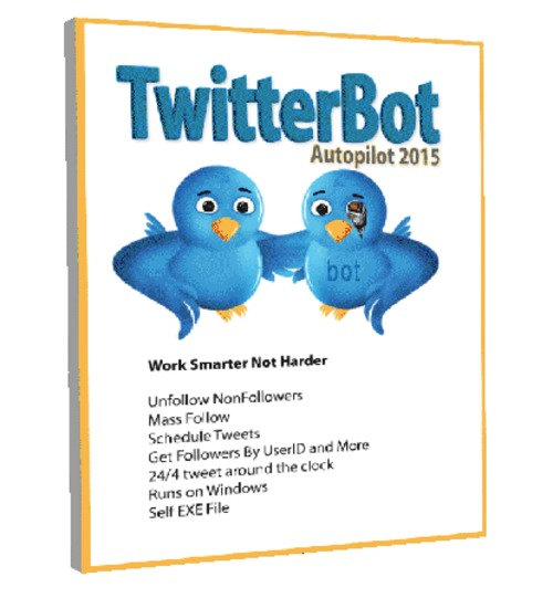 Product picture TwitterBot 2015 Automated twitter software -Windows Only exe